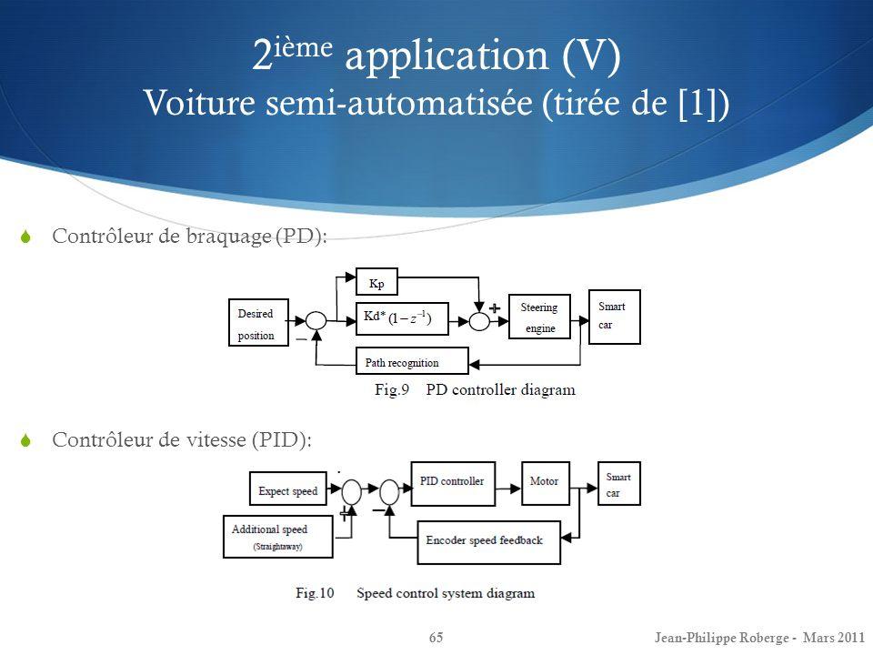 2ième application (V) Voiture semi-automatisée (tirée de [1])